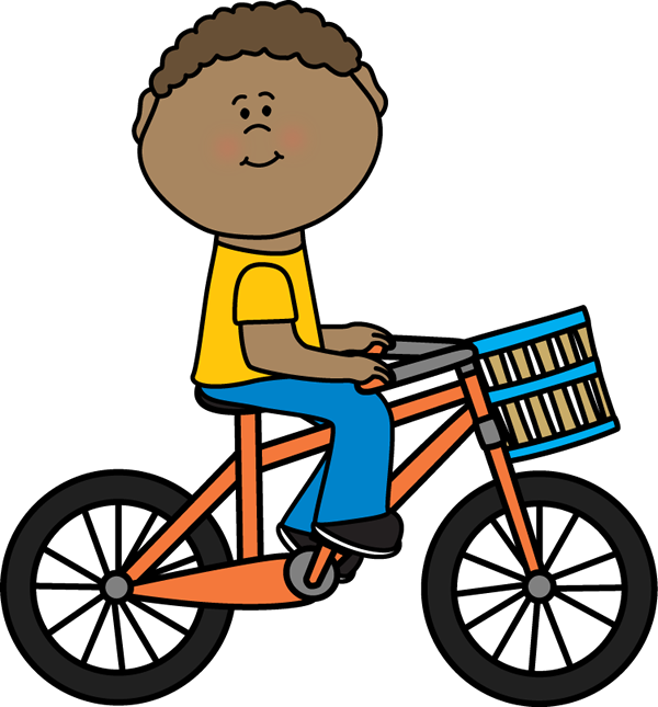 Boy Riding a Bicycle with a Basket | Postacie do opisania ...