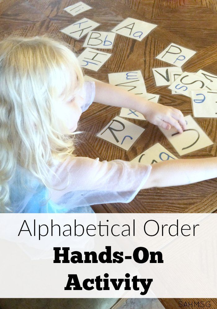 Photo of Preschool at Home Day 2: Alphabetical Order Hands-On Activity | The Stay-at-Home-Mom Survival Guide