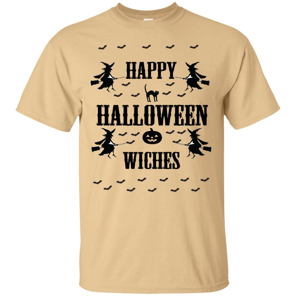 Happy Halloween Witches - Baseball ringer tee - Ugly Christmas Sweater style T-Shirt