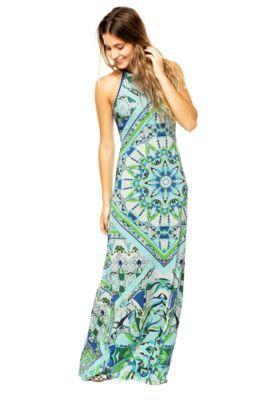 819df925f Vestido Longo Colcci Estampado Azul