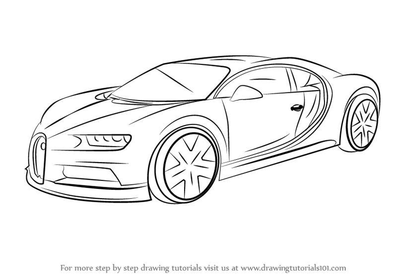 Learn How to Draw Bugatti Chiron (Sports Cars) Step by Step ...