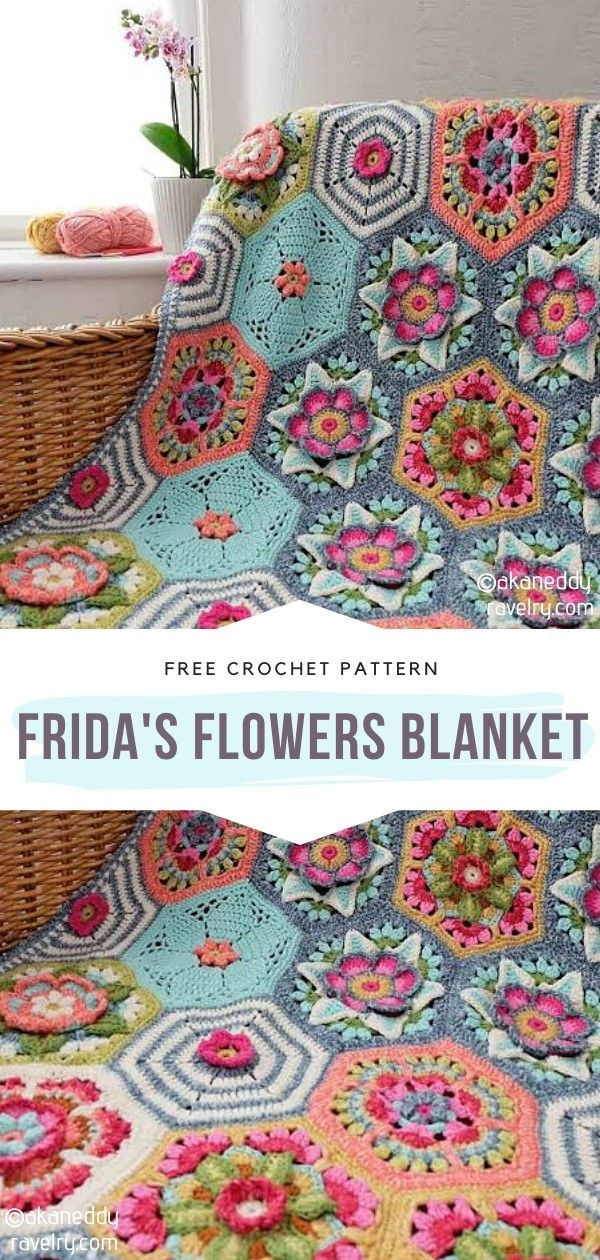 How to Crochet Frida's Flowers Blanket – Häkeln