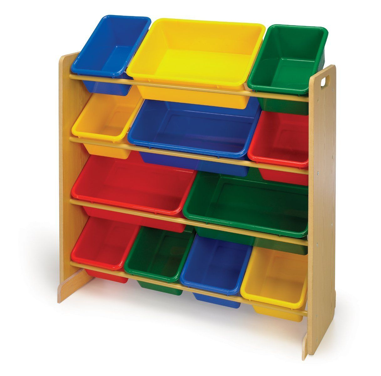 New Bookcase Toy Box White Finish Bedroom Playroom Child: Tot Tutors Toy Organizer, Primary Colors