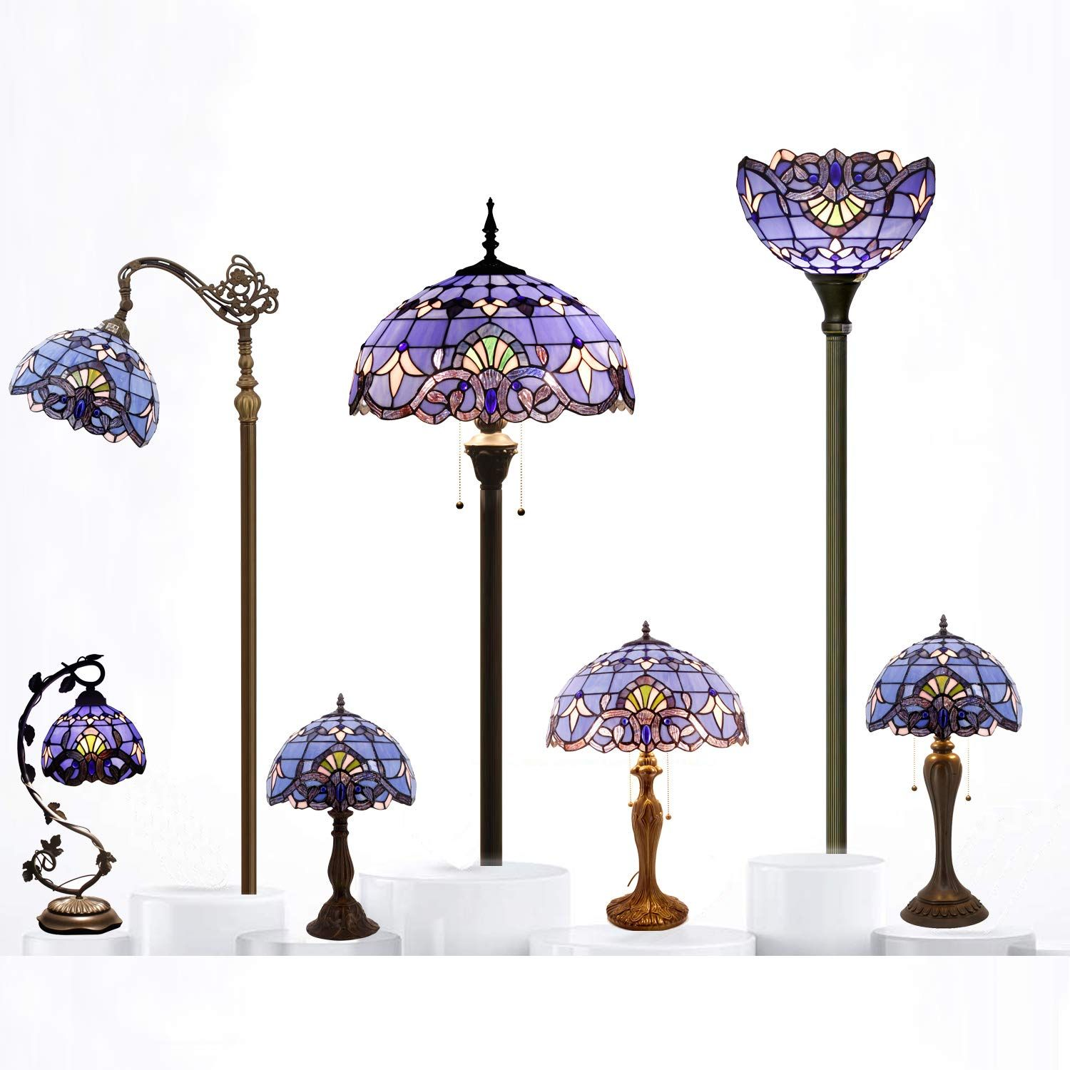 Tiffany Lamp Lavender Table Werfactory In 2020 Glass Desk Lamps Glass Desk Tiffany Lamps