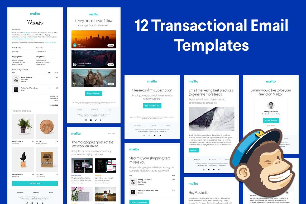 17 Email Templates Huge Bundle | Pinterest | Template and Email design