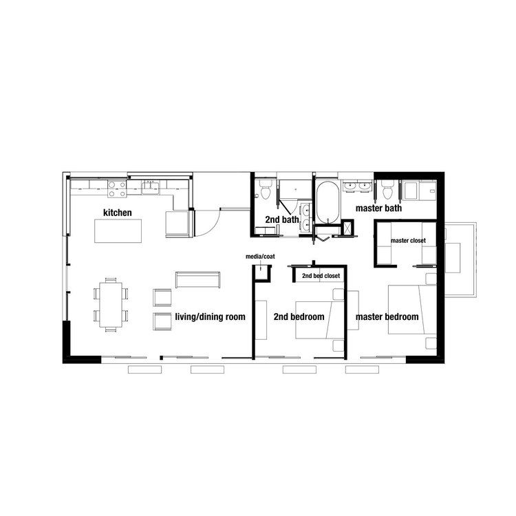 Overall Dimension 51 10 X 26 0 Overall Sq Ft Approx 1344 Sq Ft Living Dining 24 8 X 16 0 2 Bedroom House Plans Bedroom House Plans House Plans