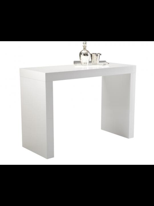 Faro C-Shape Bar Table in High Gloss White | 50257-SUNPAN | Sunpan