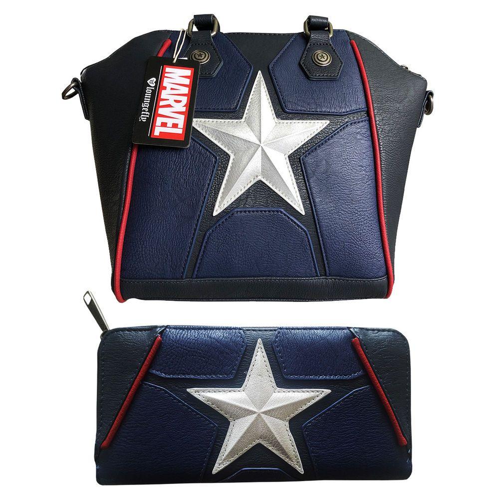 Marvel Avengers Captain America Cosplay Crossbody bag   Wallet Set by  Loungefly  Loungefly  Crossbody 246862ee1e51e