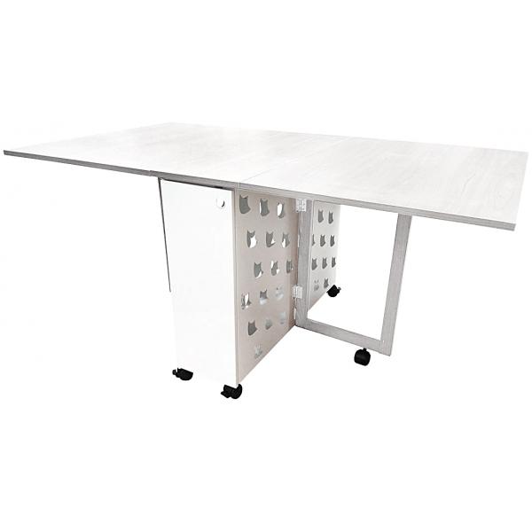 Mesa plegable con alas abatibles para cocina | mesa movil | Mesa ...