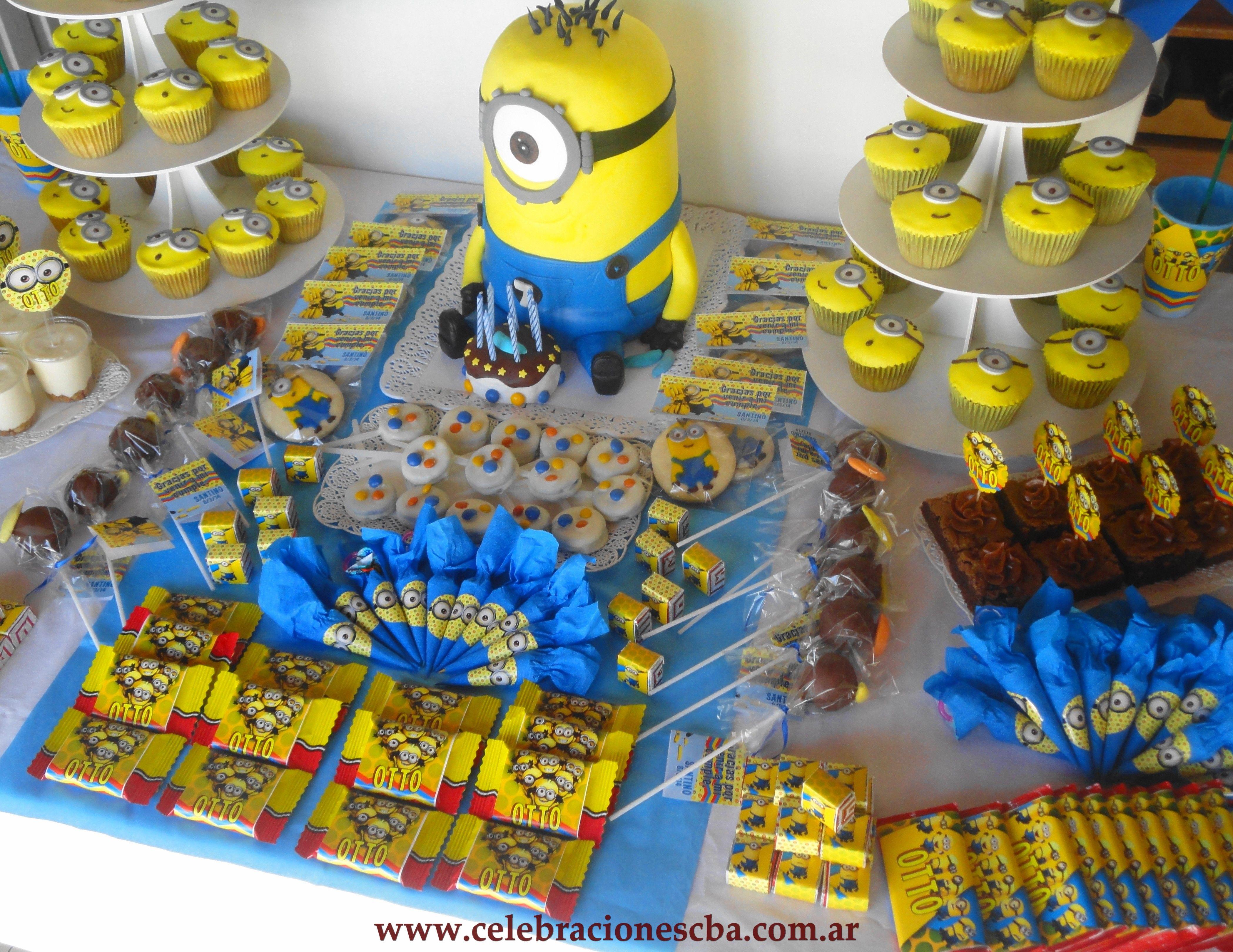 Mesa dulce completa tem tica minions for Mesas cumpleanos infantiles