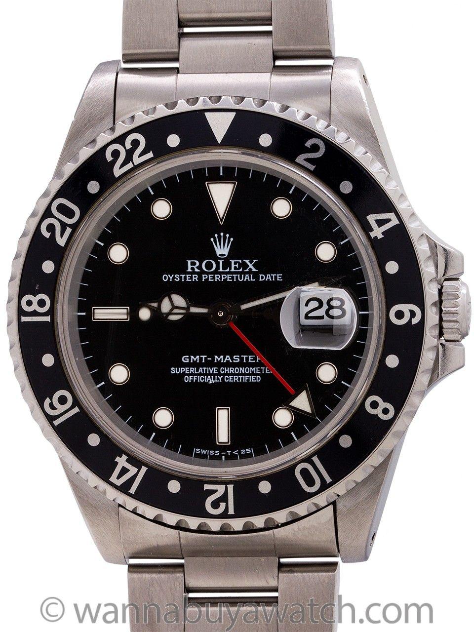 Rolex Gmt I Ref 16700 Circa 1997 Rolex Rolex Gmt Swiss Luxury Watches