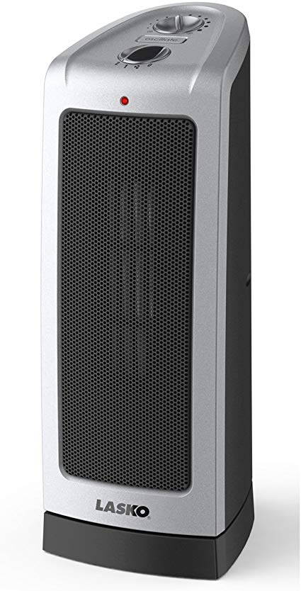 Amazon Com Lasko Electric Oscillating Ceramic 1500 Watt Tower Heater 5307 Home Kitchen Tower Heater Space Heater Portable Electric Heaters