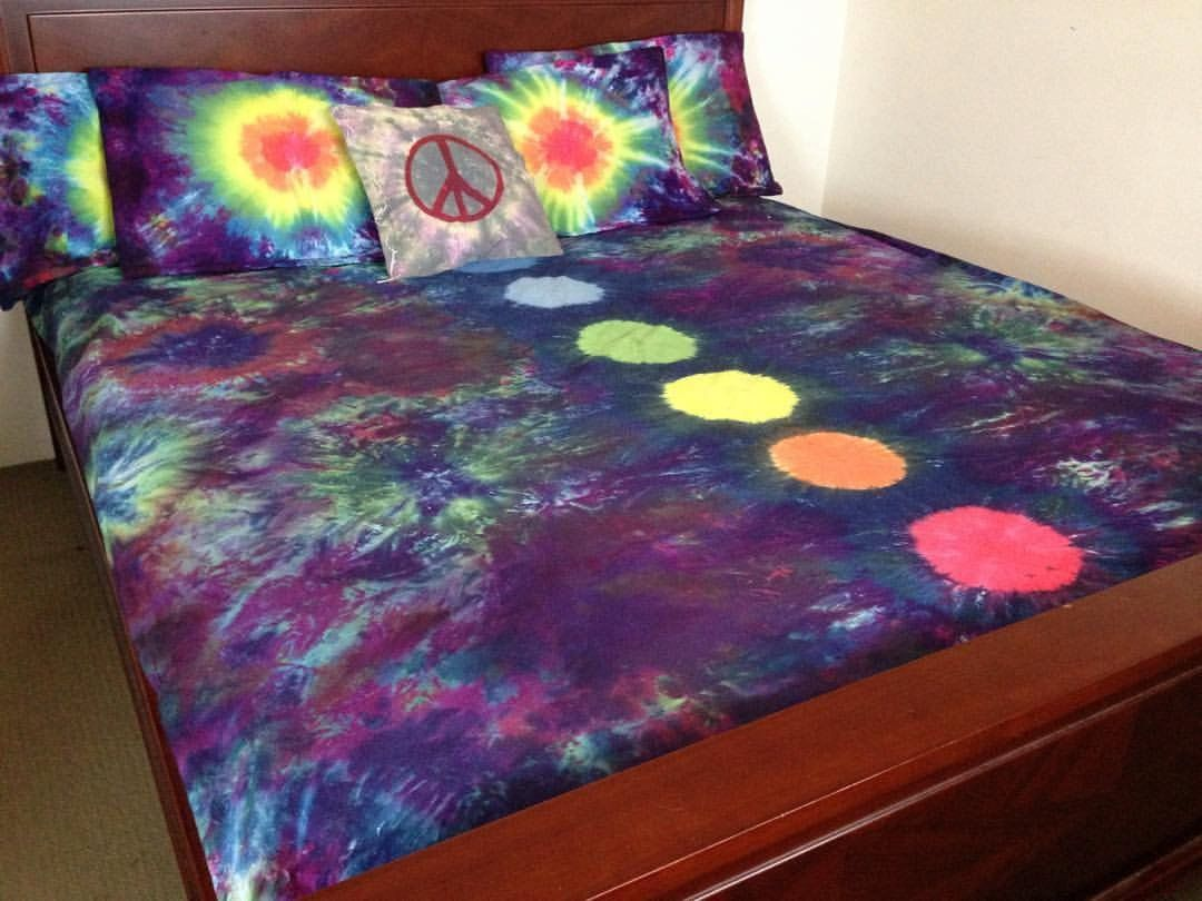 7 Chakras, Tie Dye bedding, Quilt Cover Set, Doona Cover