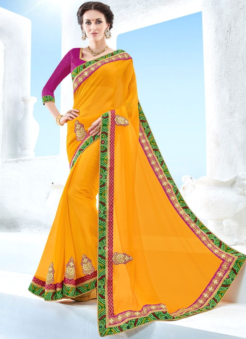 Saree blouse design for chiffon saree online shopping for latest collection of designer sarees shop this