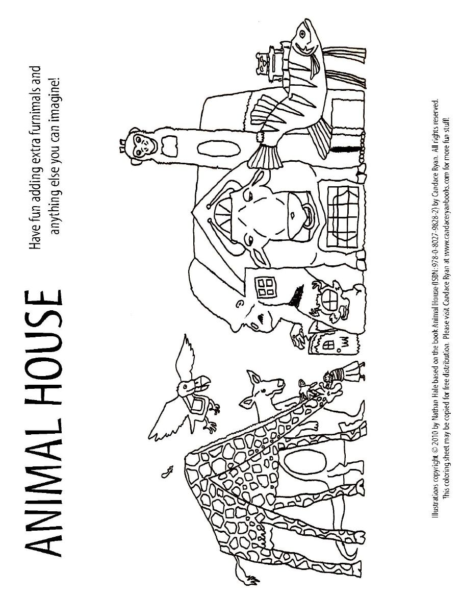 Candace Ryans ANIMAL HOUSE Coloring Activity Sheet 3