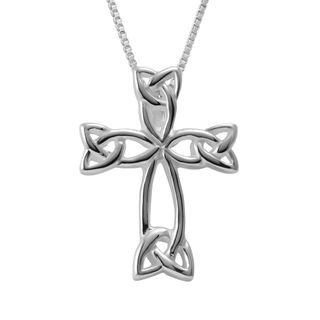 Sterling silver box chain necklace and celtic cross pendant sterling silver box chain necklace and celtic cross pendant thailand aloadofball Choice Image
