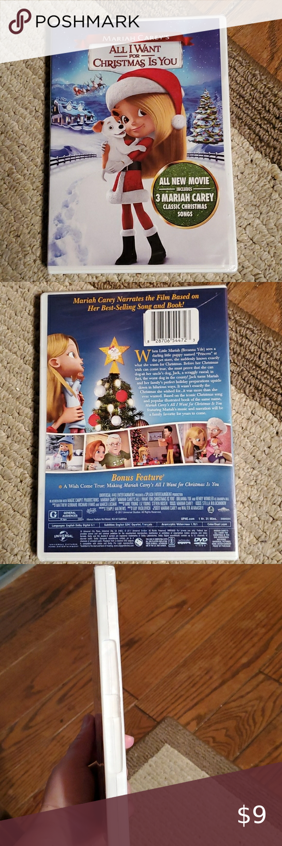 Mariah Carey S All I Want For Christmas Is You Dvd In 2020 Classic Christmas Songs Mariah Carey Mariah