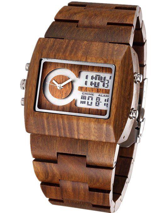 a7b87732c0cc Hecho a mano de madera muy guapo con los relojes de los hombres 100% de  madera de sándalo Natural
