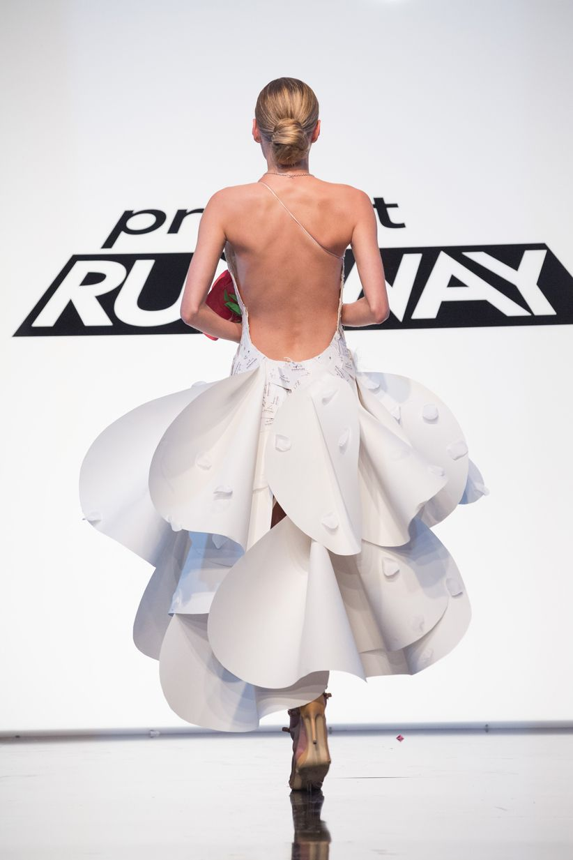 Project Runway Unconventional Materials Challenge Winning Dress By