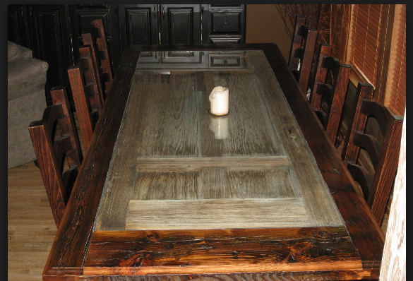 Best Barn Wood Table Great Use For Reclaimed Wood And Or Door 400 x 300