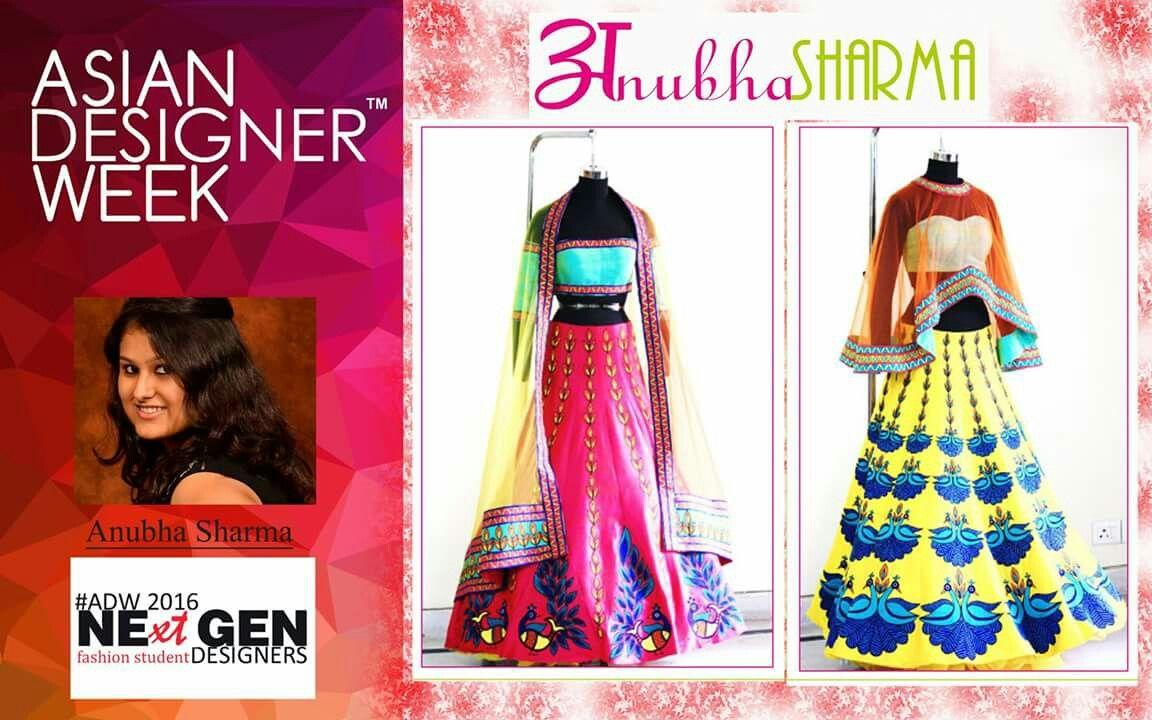 #MeetourNextgenDesigner   Asian Designer Week introduce our #NextGen Fresh Talent Designer Anubha Sharma from Noida   Label : Anubha Sharma  Anubha will be showcasing her designs in #ADWFW16 on 20 Nov,2016 @ talkatora Stadium