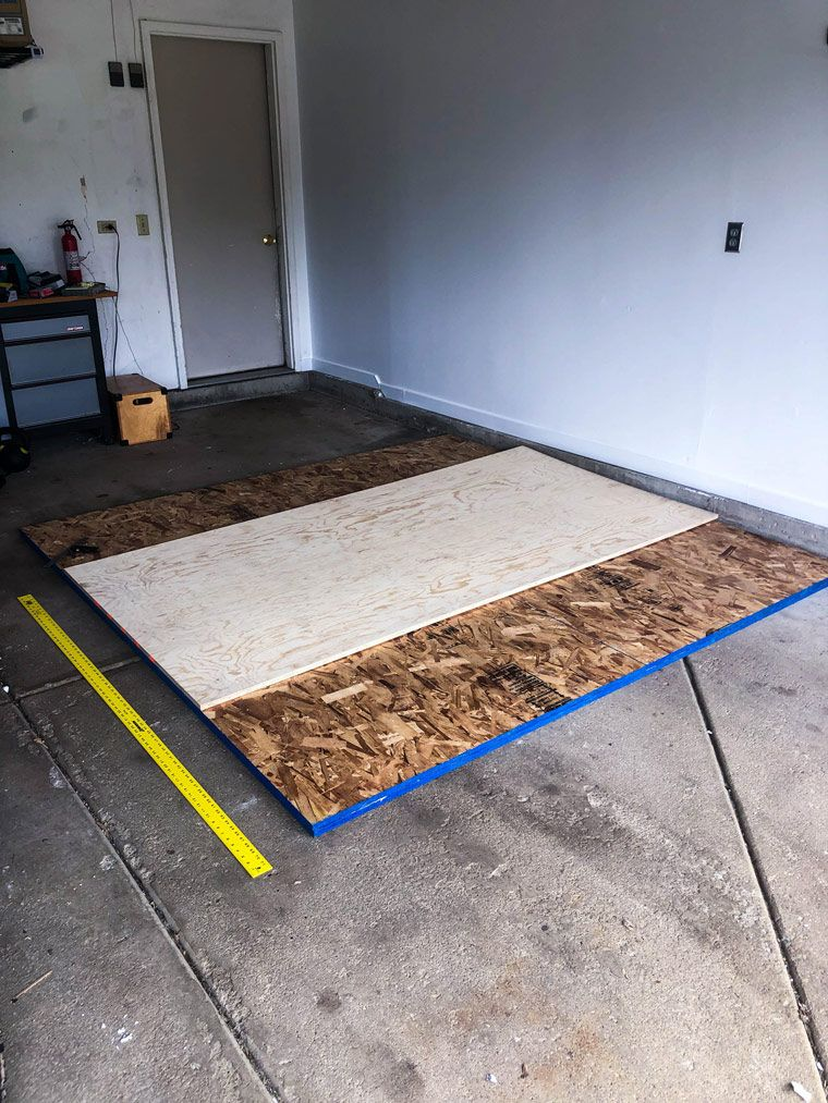 Follow These Simple Steps To Build A Diy Weightlifting Platform For Your Garage Or Basement Gym On A Budget E Diy Home Gym Home Gym Garage Building A Home Gym