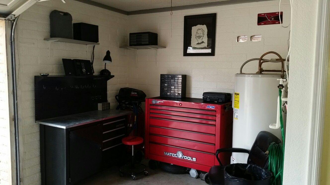 medium resolution of dad s finished garage workspace