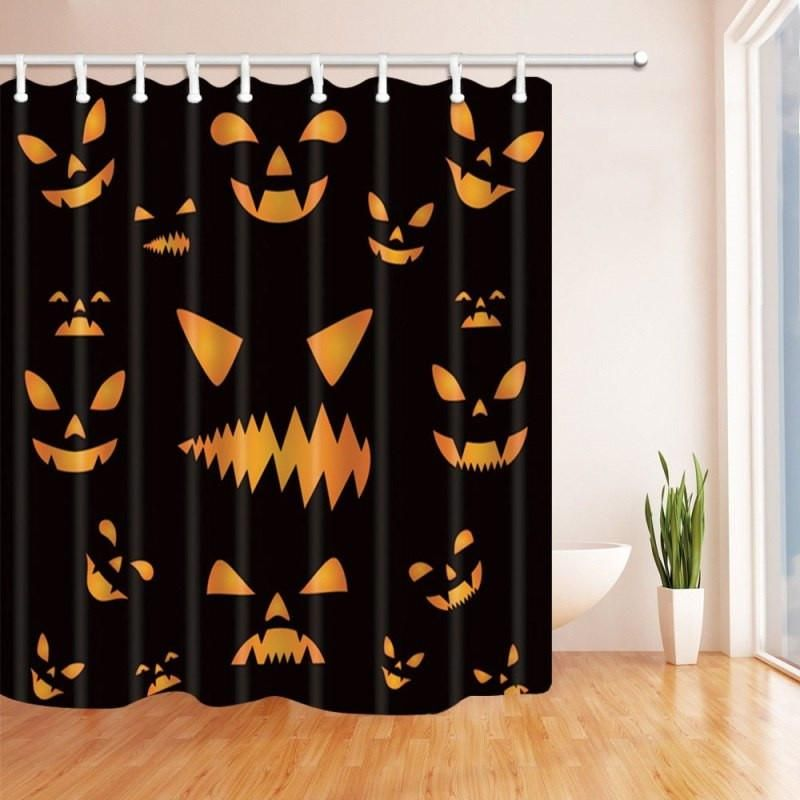 Halloween Shower Curtains Halloween Shower Curtain Fabric