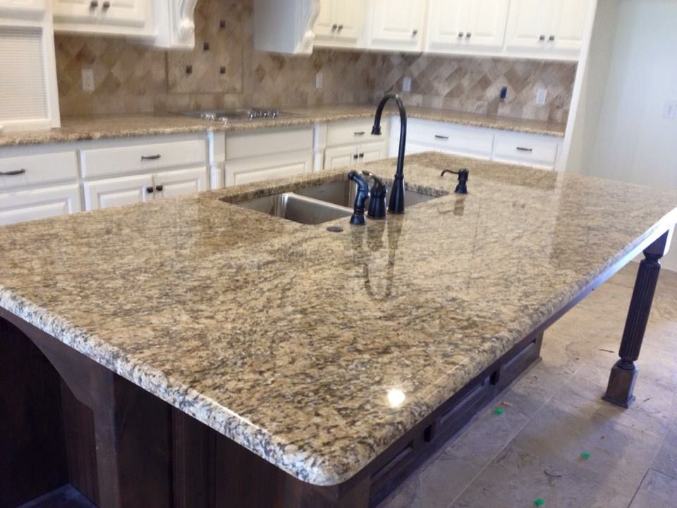 Santa Cecilia Granite With A Demi Bullnose Edge Countertops