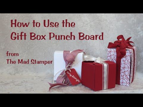 How to Use the Gift Box Punch Board