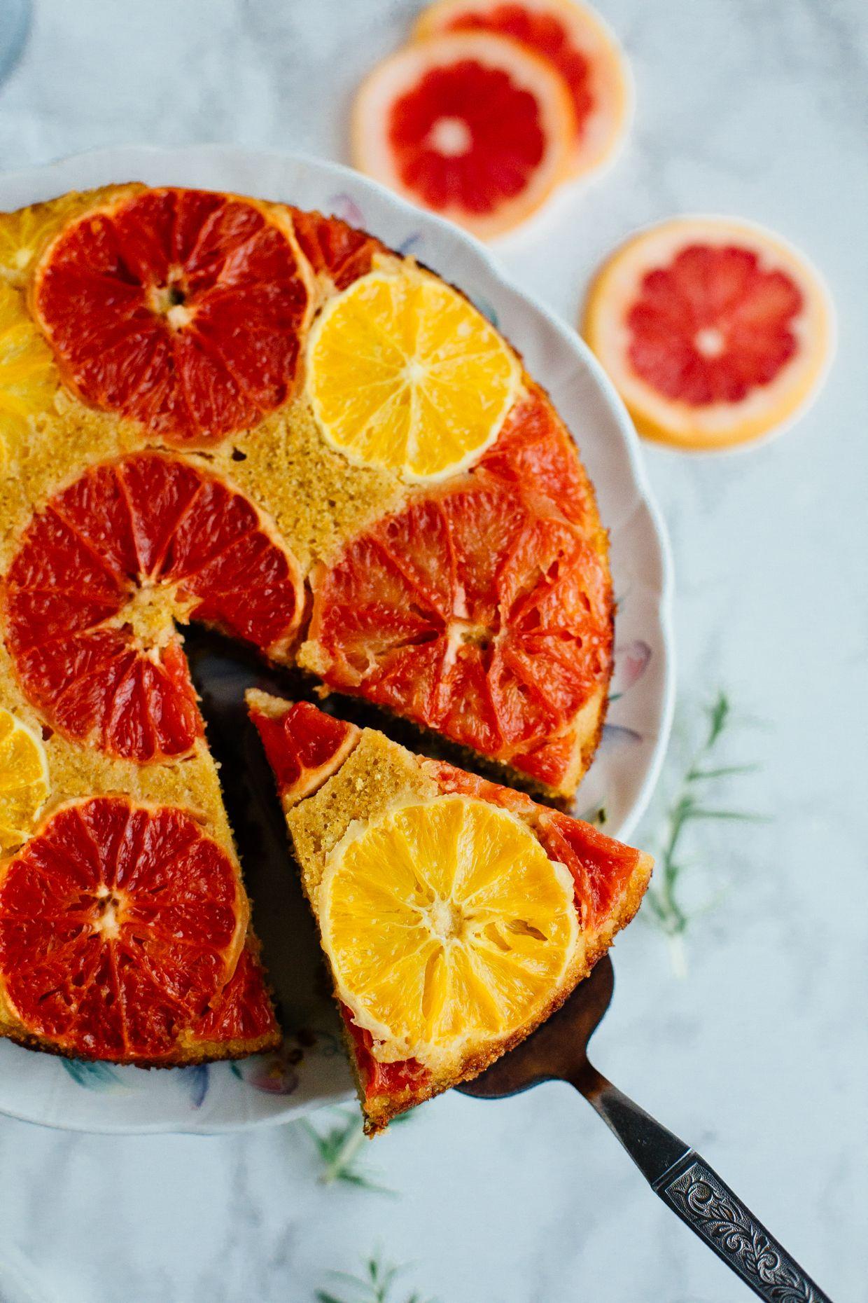 Citrus and rosemary olive oil polenta cake