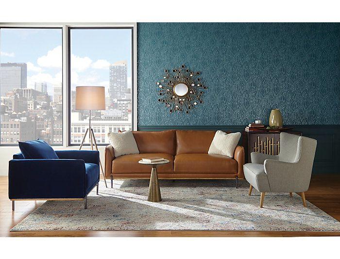 Best Sorrento Brown Leather Sofa Art Van Home Leather Sofa 640 x 480