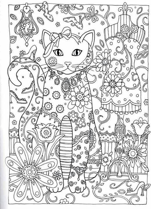 Creative Cats Colouring Book I Marjorie Sarnat | Coloriage ...