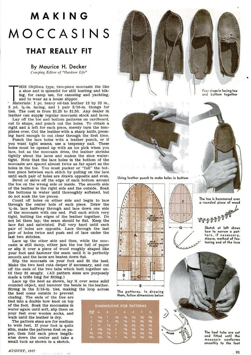Как сшить индейские мокасины своими руками 1