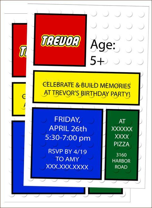 Free Lego Invitation Template Happy BirthdayEfrain Pinterest