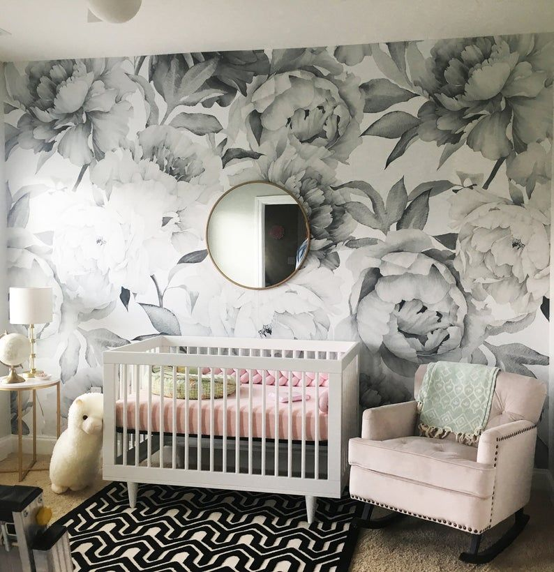 Removable Wallpaper Self Adhesive Wallpaper Watercolor Extra Etsy Nursery Wallpaper Mural Wallpaper Removable Wallpaper