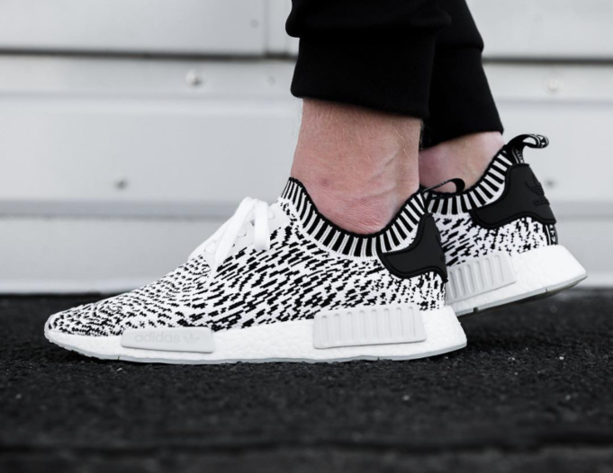 adidas nmd r1 primeknit zebra pack black and white adidas shoes men