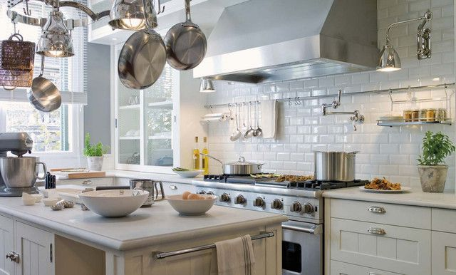 Adex Hampton White Subway Tile Kitchen Backsplash From