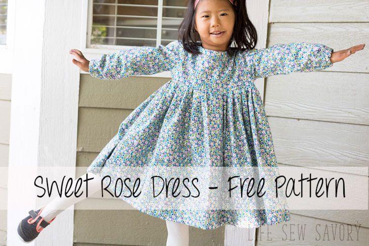 This Free Dress Pattern For Girls Is A Sweet Fallwinter Dress Sew