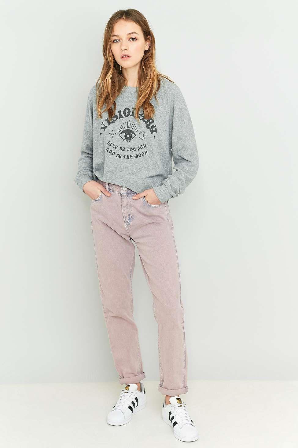 BDG Acid Washed Pink Mom Jeans
