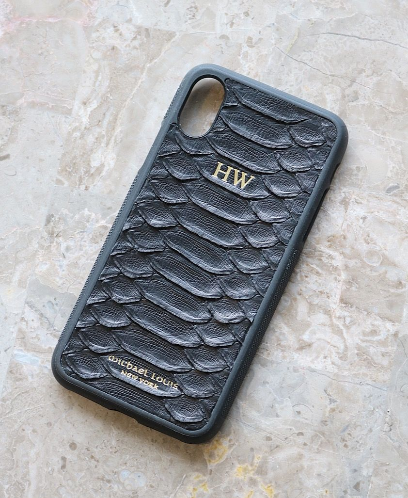 pretty nice 9f450 b635c Black Python iPhone X/XS Case | - iPhone X/XS Case | Leather phone ...