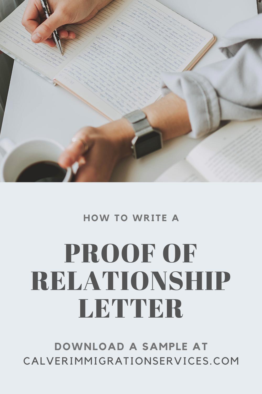 Genuine Relationship Letter Sample
