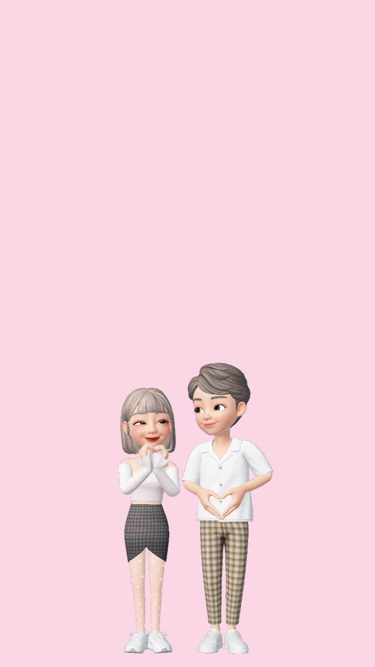 Cute Couple Zepeto Wallpaper Kartun Lucu Kartun Wallpaper Lucu