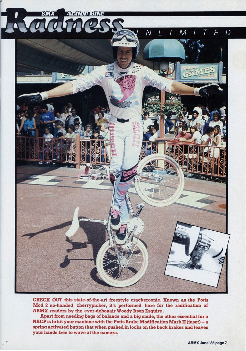 Woody Itson / classic cherry picker Bmx freestyle, Bmx