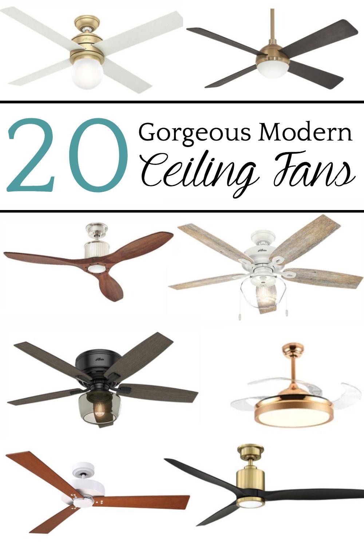 20 Gorgeous Modern Ceiling Fans Modern Ceiling Fan Ceiling Fan Ceiling Fan Makeover
