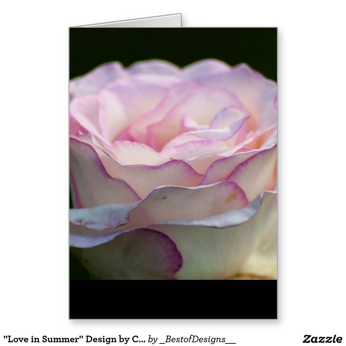 """""""Love in Summer"""" Design by Carole Tomlinson Greeting Card"""