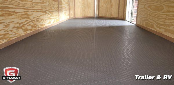 G Floor Trailer Covering Seamless Solid Vinyl Roll Out Flooring Made In Usa