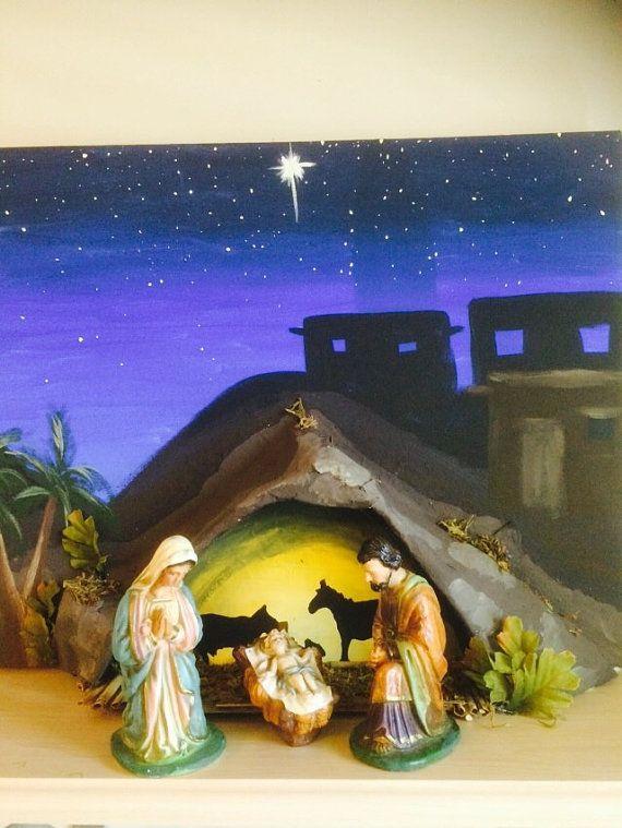 Pesebre de la Natividad Fondo pantalla por EsPaintingsNThings