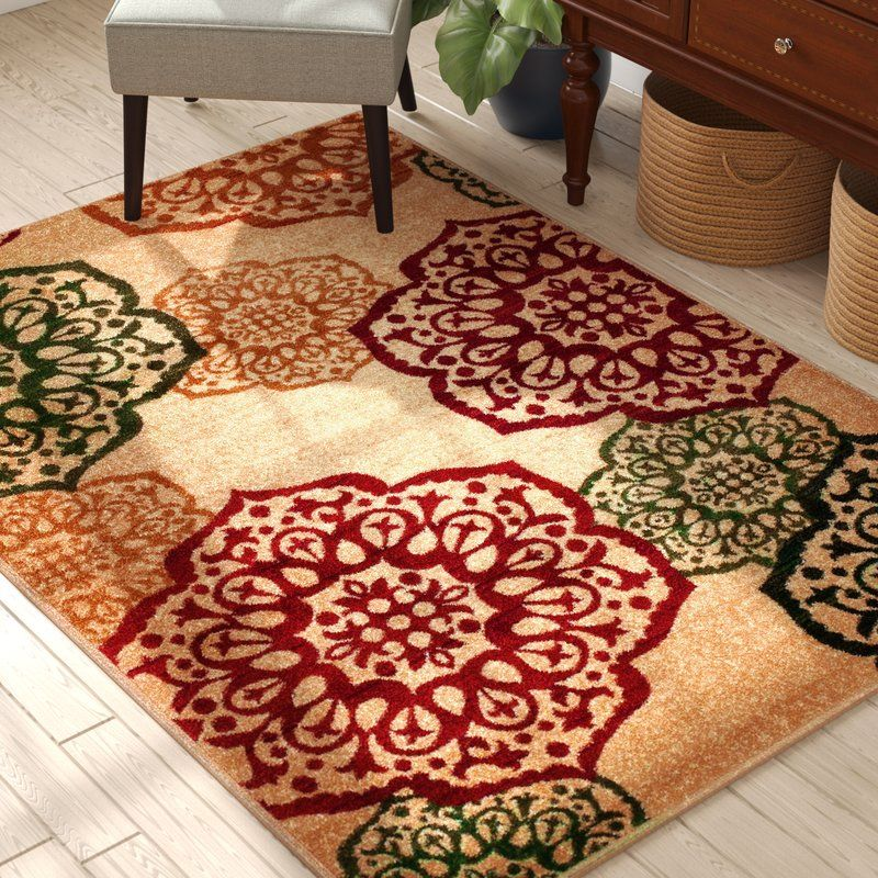 Albee Geometric Beige Area Rug With Images Green Area Rugs