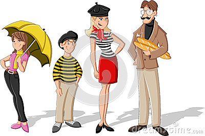 Fashion French Cartoon Family